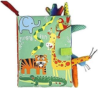 Libro de Tela deBEB EACUTE。 Suave Aprendaje Temprano Juguete Del Beb ecute; NTILDE; Anza Tema Animal 3D Libro De Tela Inte...