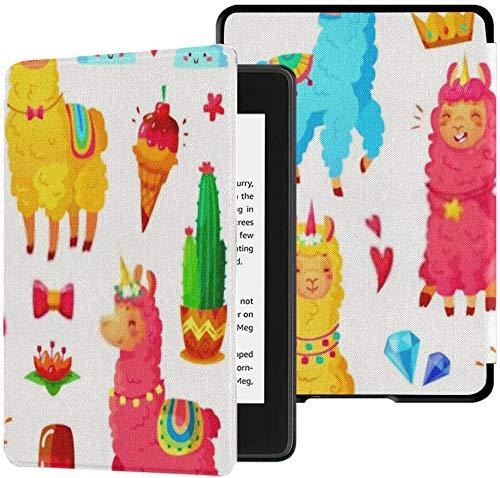 Nuevo Kindle Paperwhite Funda de Tela Segura para el Agua (10a generación, versión 2018), Divertido Cuento de Hadas, Lindo, Mexicano, Sonriente, Colorido, Estuche para Tableta