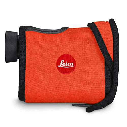Leica Dirt-Resistant Waterproof Neoprene Cover Compatible with Rangemaster CRF Laser Rangefinder, Juicy Orange 42235