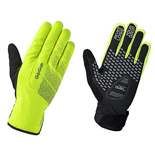 GripGrab Ride Wasserdichte Winddichte Fahrrad Winter Handschuhe Warme Gepolsterte Touchscreen Radsport Fahrradhandschuhe, Gelb Hi-Vis, XL