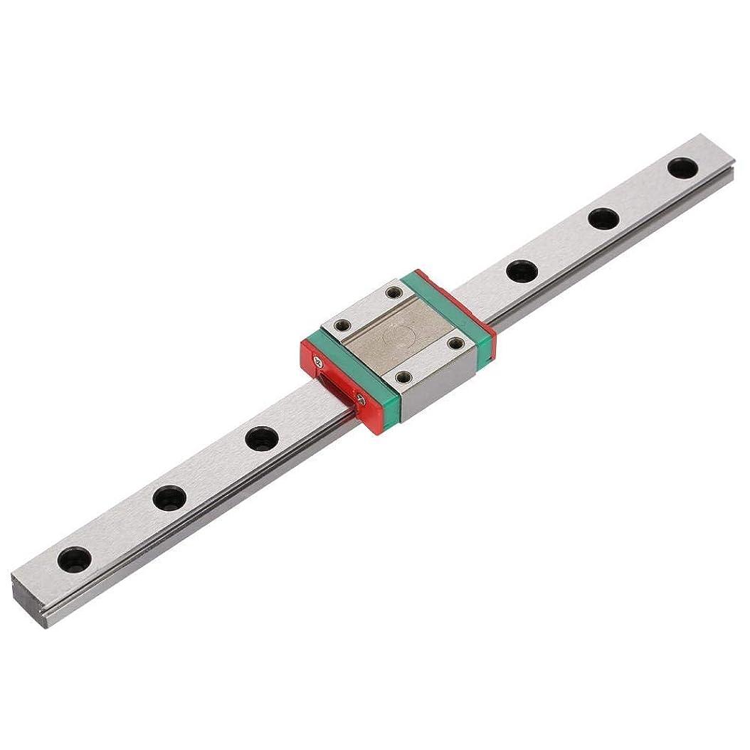 扱う前部グラマーST-ST リニアガイドレール、自動機器精密直線運動マシン(#3)100 150 200 300 450ミリメートルミニチュア4点接触リニアレールガイド12ミリメートル幅+スライドブロック リニアガイド