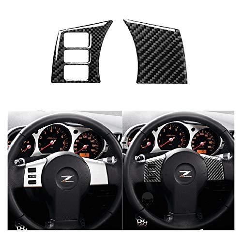 zhuzhu Fit für 2003-2009 Nissan 350Z Z33 Navigation Lenkrad Lagerung Dash Türgriff Carbon Aufkleber Set Modified Autozubehör (Color Name : Steering Wheel C)