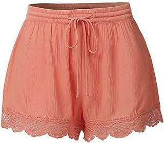 Men Color Drawstring Shorts Loose Short Fitness Jogger Shorts Mens Sports Pants Fitness Shorts Fashion (Color : Orange, Si...