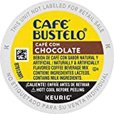 Café Bustelo Café con Chocolate Flavored Espresso Style Coffee, 24 K Cups for Keurig Coffee Makers