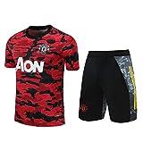 QJY Camiseta de Manga Corta del Equipo de Manchester United T-Shirt + Traje de Entrenamiento del Club de fútbol de Manchester United United United (Color : A, Size : M)