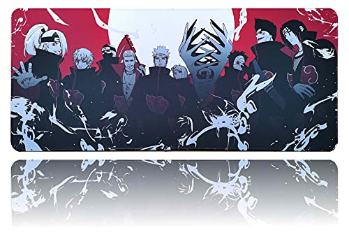 Anime Mouse Pad Akatsuki Large Gaming Mouse Mat 35.4'x15.7' for Laptop PC Office Desk Accessories