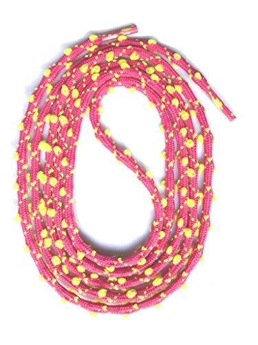 SNORS - Schnürsenkel rund - RUNDSENKEL Pink/Neongelb 130cm, ca. 3mm, eingewebte Öhrchen