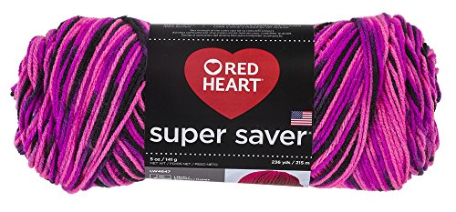 RED HEART Super Saver Yarn, Panther Pink