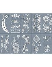 Kamiya Tattoo sjablonen met mesh, herbruikbaar, 10 vellen