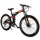 Eurobike OBK G7 Folding Bike 21 Speed Full Suspension Mountain Bicycle...