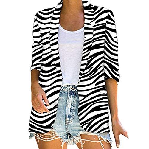 CRE87 Langen Mantel Jacke Damen Damen Herbst Winter Outing Stil Leopard Zebra Ahornblatt Drucken Schwarz Weiß Braun S-2XL