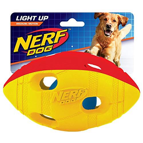 Hasbro Nerf Dog VP6789E LED Football, zweifarbig Grün/Rot, M