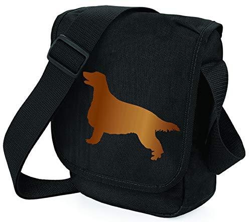 Bag Pixie Bolsa de hombro con silueta roja irlandesa para reportero, elección de regalo de colores (bolsa negra para cobre)
