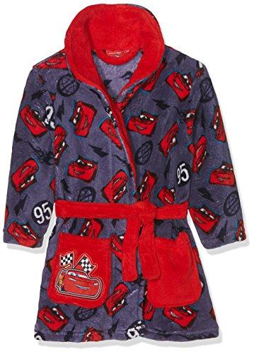 Disney Jungen Bademantel Cars Lightning 95, Rot (Red 19-1763TC), 2-3 Jahre