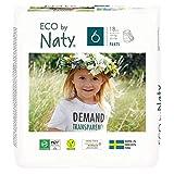 Eco by Naty, Pants, Talla/Tamaño 6, 18 pañales, +16kg, Pañales Pants Ecológicos Premium Hechos A Base de fibras Vegetales. sin Sustancias Nocivas