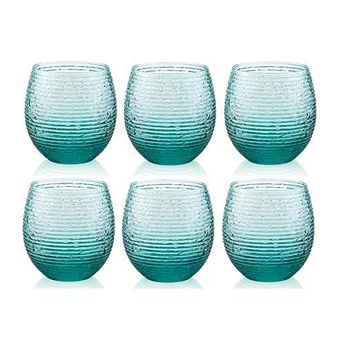 IVV Set 6 Bicchieri cl.25 col.Turchese