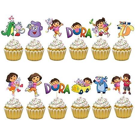 16 pieces of Dora the explorer  cupcake toppers