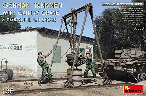 ミニアート 1/35 ドイツ戦車兵 2体入 ガントリークレーン マイバッハHL120エンジン付 プラモデル MA35350