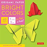 Origami Paper - Bright Colors - 6' - 49 Sheets: Tuttle Origami Paper: High-Quality Origami Sheets Printed with 6 Different Colors: Instructions for Origami Projects Included