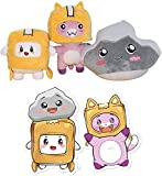 7.9/11.8inch Boxy and Foxy and Rocky Plush Toy,Removable Robot Soft Toy,Great Collections for Cartoon Fans (Boxy+Foxy+Rocky)