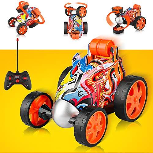 Blasland Remote Control Car - Rc Vehicle Four Wheel Stunt Car, 360 Degree Rotation Racing Car, Rc Stunt Car Toy for Toddlers, Kids, Boys & Girls