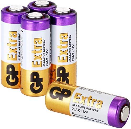 GP Extra Batterien 23A 12V Alkaline (A23, 23AE, MN21, V23GA) 5 Stück, 12 Volt für Handsender, Transmitter, Fernbedienung, Sicherheitstechnik etc.