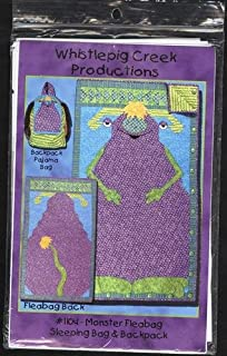 Monster Fleabag Sleeping Bag and Backpack Pattern Whistlepig Creek Productions 1104
