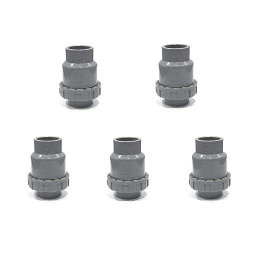 Socket PVC Check Valve Ball-Type Control Devices Non-Return Valve Water Check Valve 1 Pack SHMONO 3//4/'/' Valves