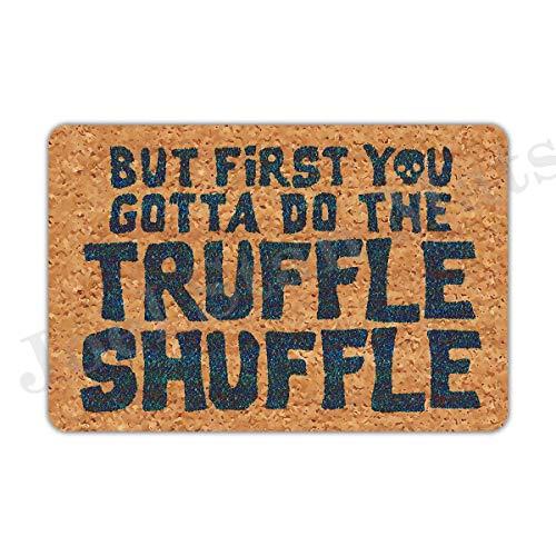 Joelmat Eingangstür First You Gotta Do The Truffle Shuffle, rutschfeste Gummi-Fußmatten für Haustür/Badezimmer/Garten/Küche/Schlafzimmer, 60 x 40 cm