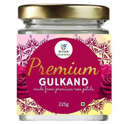 Nxtgen Ayurveda Natural Gulkand | 225 g | with Rock Sugar | Rose Petal Jam | Glass Jar