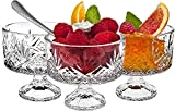 Crystal Dessert Bowls 16-Pc Trifle Tasting Set, Dessert, Ice Cream, Fruit Bowls