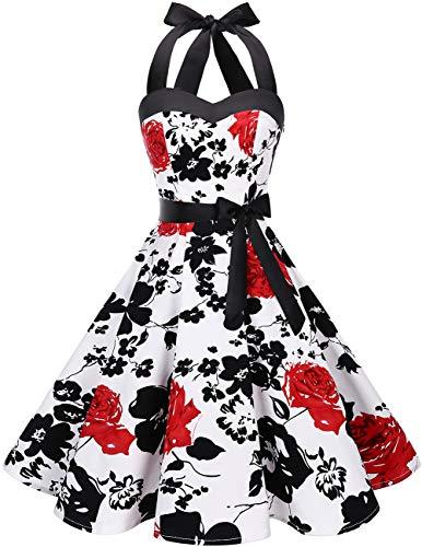 Women's Cocktail Dresses Halter Vintage Dress for...