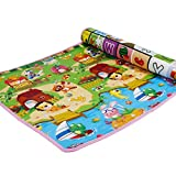 SimpVale Double-Sided Mats Foam Waterproof Baby Crawling Thickening Mat Drawing Alphabet Figures Animals Pattern 180cm x 120cm x1cm (70.86inch x 47.24inch x 0.4inch)