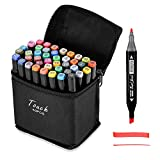 40 Colors Artist Alcohol Markers Dual Tips Marker Pens Permanent Sketch Markers Set for Kids and Adult Coloring Painting Manga Design