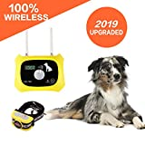 JUSTSTART Wireless Dog Fence Electric Pet Containment System, Safe Effective Anti Over Shock Fence, Adjustable Control Range 1000 Feet & Display Distance, Rechargeable Waterproof Collar Receiver