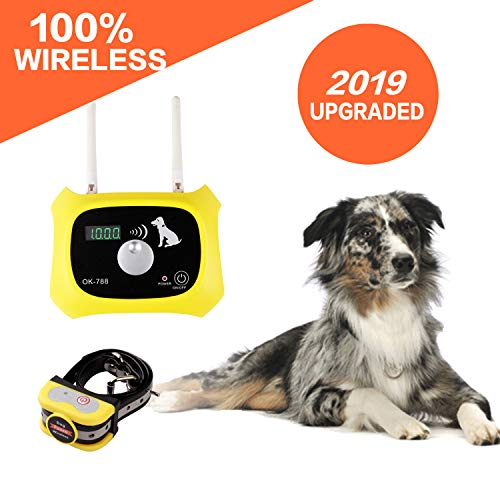 Wireless Dog Fence Electric Pet Containment System, Safe Effective Dog Wireless Fence, Adjustable