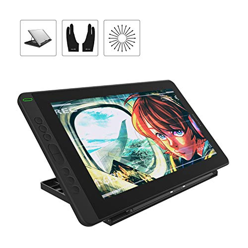 HUION Kamvas 13 Drawing Tablets with Screen Android Supported 13.3inch Full-Laminated Anti-Glare Pen Display 120% sRGB 8192 Levels Tilt Function Drawing Monitor - Stand Included