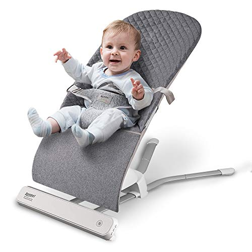 Baby Swing Bouncer, RONBEI Portable Swing, Automatic Swing Bouncer for Baby/Infants, 2 Speed Vibration (Grey)