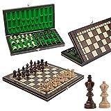 Master of Chess Classic OLYMPIC - Juego de ajedrez de madera (35 cm, 35,5 cm, 35,5 cm)