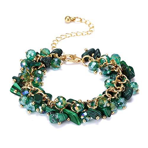 KKVK Charm Armbänder & Armreifen mit Steinen Gold Farbe Armband Femme für Frauen Schmuck personalisierte lila Armband F one Size