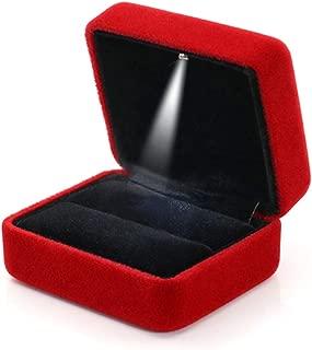 Best red velvet ring box Reviews