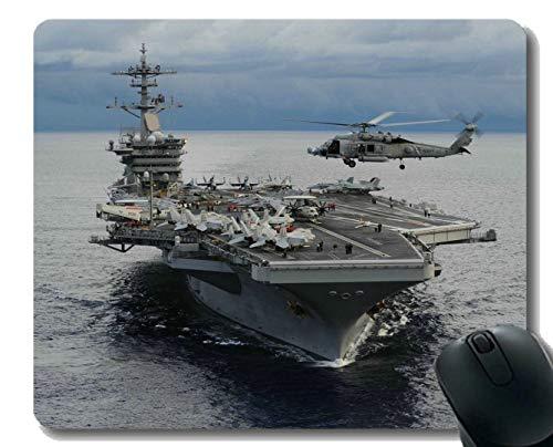 Yanteng Alfombrilla de ratón con Borde Cosido, USS Theodore Roosevelt (CVN 71) Militar, Alfombrilla para ratón, Alfombrilla Antideslizante con Base de Goma