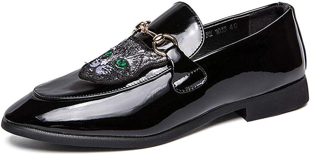 MALPYQ Chaussures de Sport à pédale décontractée pour Hommes en Cuir de Haute qualité, Chaussures pour Hommes Jeunes discothèques