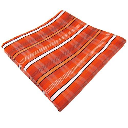 Zakdoek in oranje verkeersoranje wit zwart grijs gestreept - doek polyester