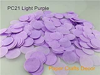 Sopeace 1 inch(2.5cm) Round Tissue Paper Confetti Round Tissue Paper Confetti Wedding Party Table Decorations Balloon Kit, 30g (Light Purple)