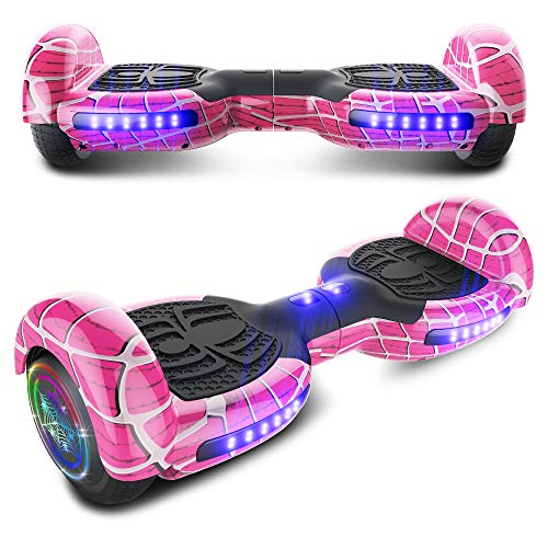 CHO Spider Wheels Series Hoverboard UL2272 Certified Hover Board Electric Scooter with Built in Speaker Smart Self Balancing Wheels (Spider Magenta)
