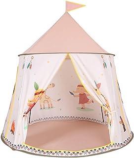 Liuxiaomiao Tipi lektält för barn barn tent inomhus lekhus inomhus utomhus leksakstält indiskt runt slott tält pojke flick...