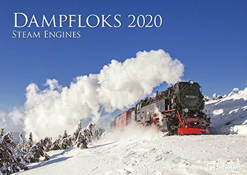 Dampfloks 2020 - Wandkalender - 42x29,7cm - Motorkalender - Lokomotivenkalender - Fotokalender - Hobbykalender - Eisenbahnkalender