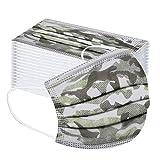 Saingace(TM) 50 Stück Kinder Mundschutz Einweg-Tarnmuster Atmungsaktiv Face Cover Mund und Nasenschutz Bedeckung Multifunktionstuch Halstuch Weihnachts