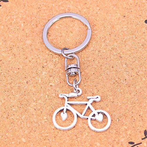 WYNYX Novedad Encantadora Color Plata Metal Bicicleta Vintage Bicicleta Llaveros Accesorio y llaveros cromados